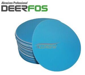 125-mm-sec-et-humide-de-poncage-disques-5-034-Papier-de-verre-Plain-film-DA-Pads-40-Grain-3000
