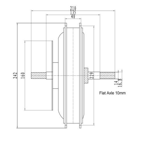 48V 1500W Electric Bike Front Rear Threaded Cassette Brushless Hub Motor MTB