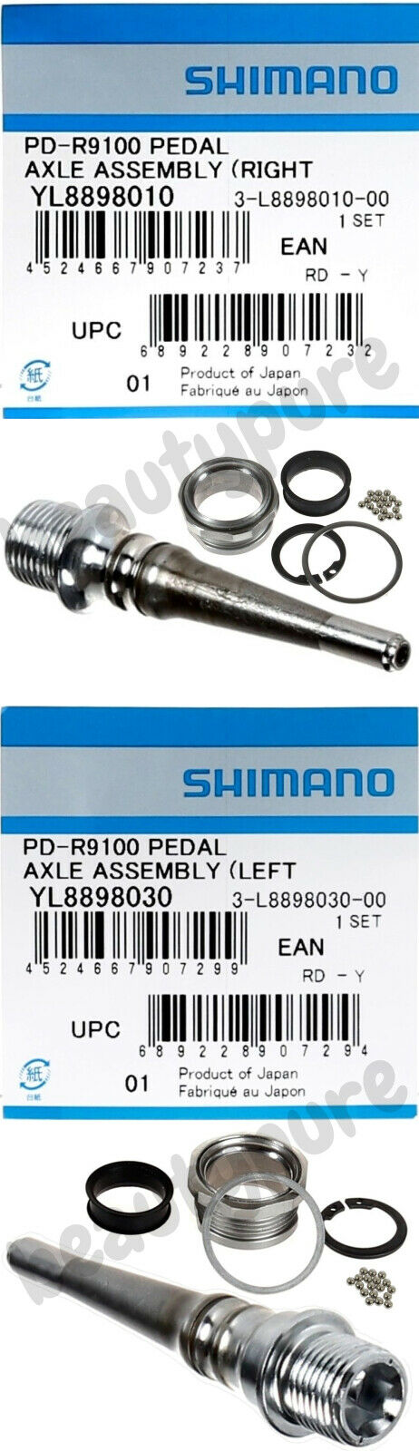 1 Pair Shimano Dura Ace PD-R9100 Pedal Axle Assembly Left    Right NIB  wholesale cheap