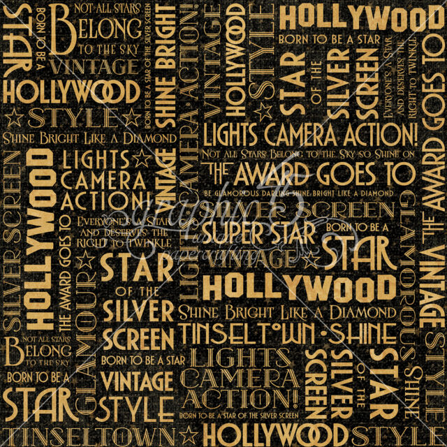Papers HOLLYWOOD 2pc Graphic45 SILVER SCREEN 12x12 Dbl-Sided Scrapbooking