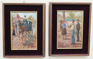 Zwei-Gemaelde-Derartige-Ol-Ennio-Formigli-Livorno-Maler-Labronici-Malerei-Ol-X8