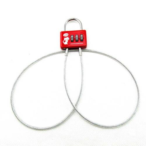Digit Cable Lock Small Combination Padlock Ideal Travel With Steel Rope Supplies