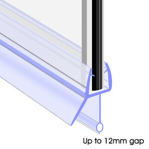 by bLux Glass Thickness 4-6mm   Gap to Seal 7mm Shower Screen Seal