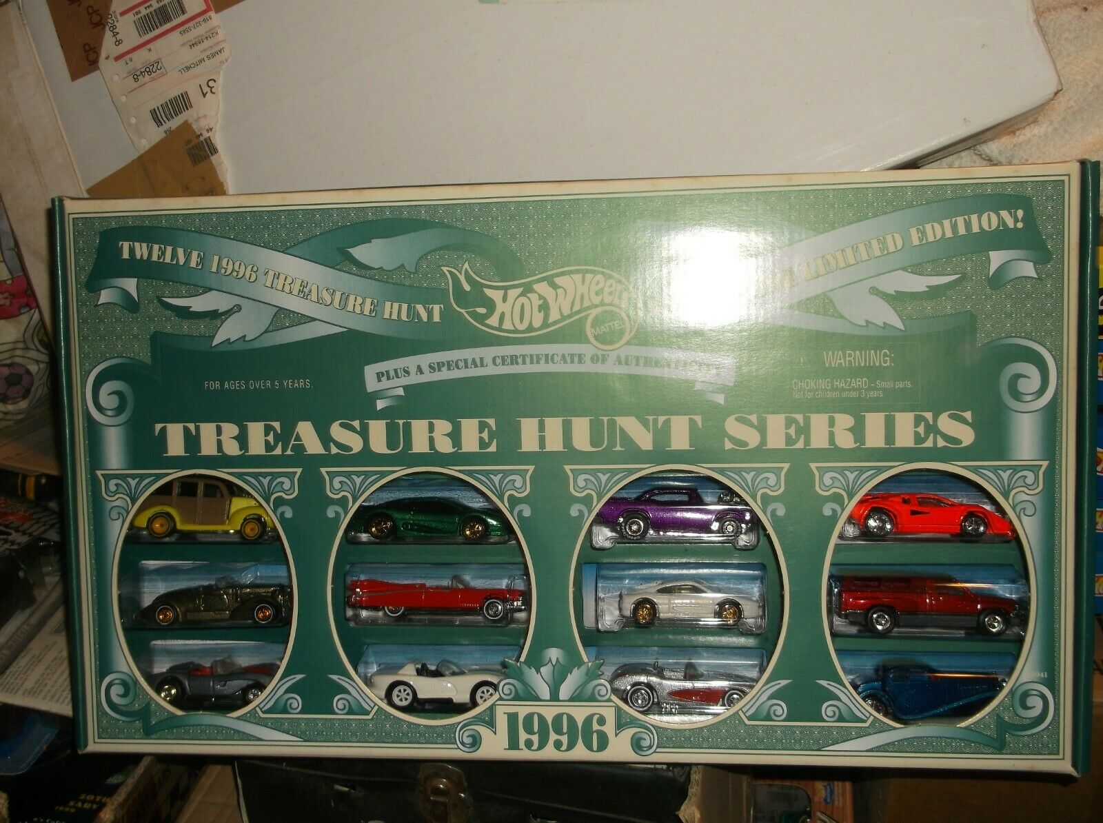 HOT WHEELS 1996 Treasure Hunt SET COMPLET NEUF EN BOÎTE
