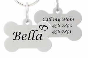 Double-Sided-Laser-Etched-Stainless-Steel-Pet-ID-Tag-for-Dog-amp-Cat-Tag-Bone