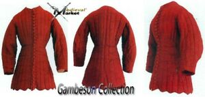 Medieval Gambeson Thick Padded costumes arming jacket for theater- larp / sca ne