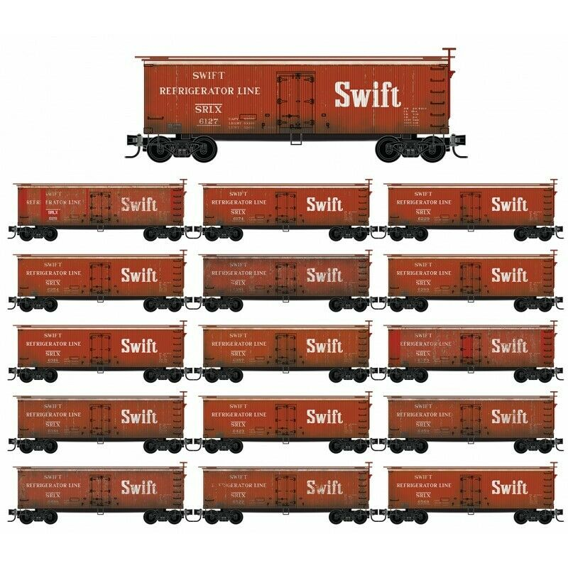 MICRO-TRAINS 993 01 925 SWIFT REEFER  WEATHErot  16 PACK RUNNER SET - MINT