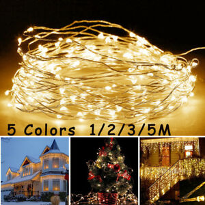 Christmas-50-LEDs-Battery-Mini-LED-Copper-Wire-String-Lights-Party-Xmas-Decor-5M