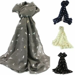 CAT-FOIL-PRINT-BICCARI-SCARFS-BLUE-GREY-CREAM-AND-BLACK-LADIES-SCARVES-SHAWLS