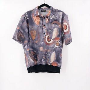 Vintage-Fulton-Street-Shirt-Works-Size-Medium-Short-Sleeve-Abstract-Made-in-USA