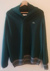 Pullover-Col-Montant-LACOSTE-Laine-Lana-Wool-Vert-Green-Verde-T-XL-6
