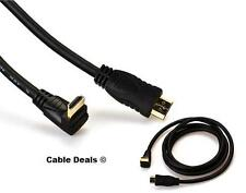 0.5M HDMI MALE TO HDMI MALE RIGHT ANGLE CABLE GOLD v1.4