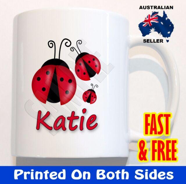 Personalised Girl* Lady Bug Bird Children* Kid* plastic Mug cute Christmas Gift*