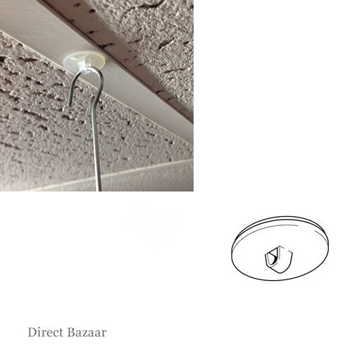 20mm D 100 x Clear Round Adhesive Base Ceiling Hanging Button