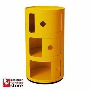 Replica-Componibili-Cabinet-3-Tier-Yellow
