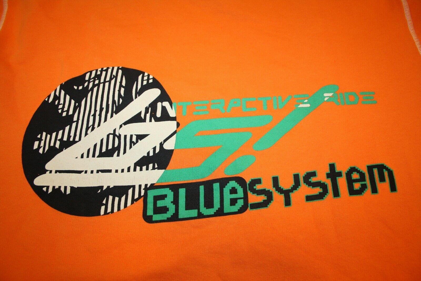 blueE SYSTEM Sweater WILLIAM neu orange Vintage 90er Three Lions Jeans Division
