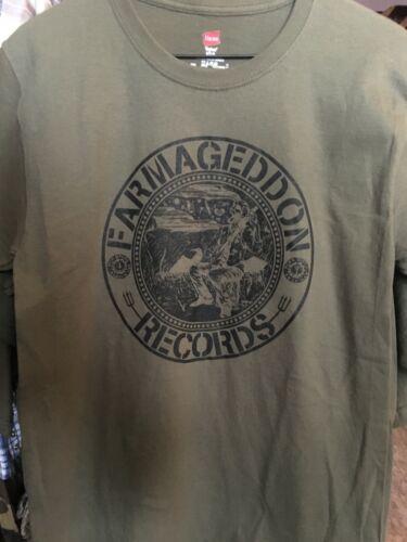 NOS Details about  /Authentic Farmageddon Records Banjo Logo T-Shirt Multiple Sizes