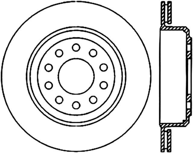 Buy Disc Brake Rotor C Tek Standard Brake Rotors Centric Fits 03 07