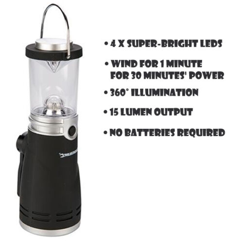 TWO WIND UP LED LANTERN LAMP LIGHT TORCH CAMPING CARAVAN BOAT EMERGENCY S56X2