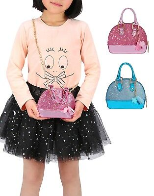 Glitter Purse Princess Small Crossbody Dome Fashion Purse for Little Girls