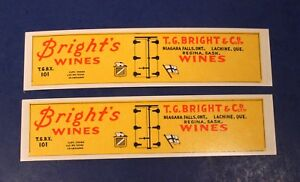 T-G-Bright-039-s-Wines-HO-Scale-Carboard-Billboard-Sides-for-Freight-Car-Kit