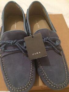 Zara-conduccion-Mocasin-mocasin-de-cuero-de-gamuza-Size-UK-10