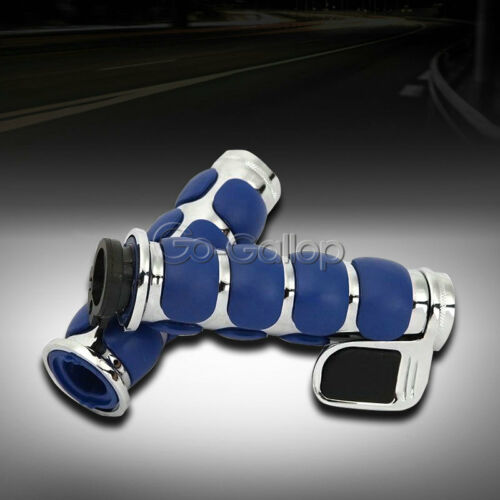 """1/"""" Blue Handlebar Hand Grips Fit Harley Dyna Softail Sportster Touring Road King"""