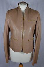 JOSEPH caramel brown leather jacket size 10/12