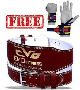 EVO-6-034-4-034-Pure-Leather-Gym-Belts-Weightlifting-Straps-Back-Support-Wraps-Fitness