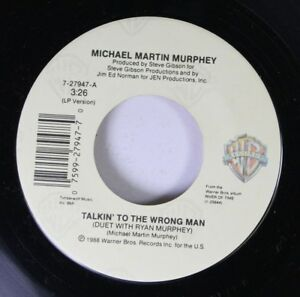 Country-45-Michael-Martin-Murphey-Talkin-039-To-The-Wrong-Man-What-Am-I-Doin-039-H