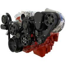 Cvf Chevy Ls Engine Procharger P1x Serpentine Kit With Alternator Ac Amp Ps Black