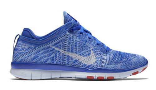 Nike Free 5.0 TR Flyknit Women's Training Running shoes bluee White 718785-403