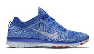 factory price 268a2 4f4ca Details about Nike Free 5.0 TR Flyknit Women's Training/Running Shoes  Blue/White 718785-403