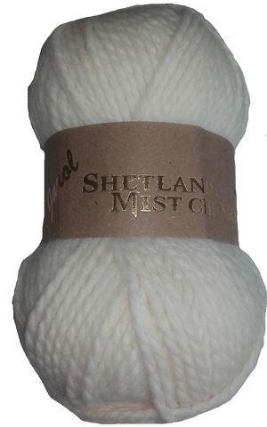 SHETLAND MIST 100g CHUNKY Knitting YARN with 20/% WOOL 05 CREAM Colour