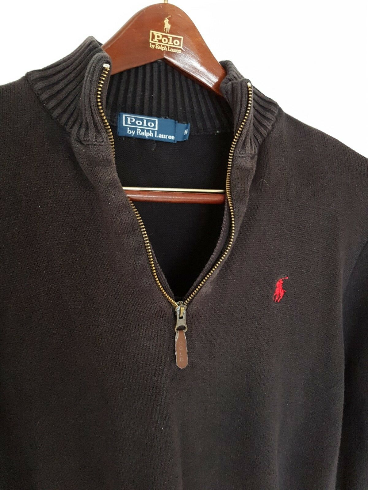 Mens POLO by RALPH LAUREN 1 4 Zip Jumper Sweater Größe medium large.