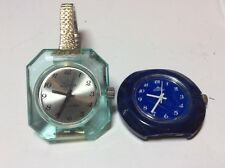 Lot Of 2 JWB Jowissa Vintage 1970's Lucite Plastic Watch Wrist Ladies Woman's