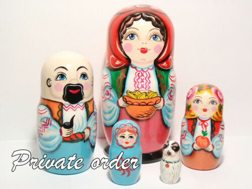 Custom nesting doll with your portrait Personalized nesting doll