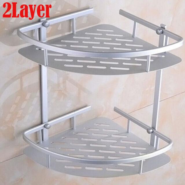 Bathroom Triangular Shower Caddy Shelf Corner Bath Storage Holder Organizer Rack