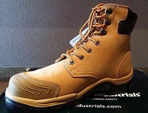 Bata-Safety-Boot-Steel-Cap-High-Leg-Lace-Up-Wheat-Hero-502-Brand-New