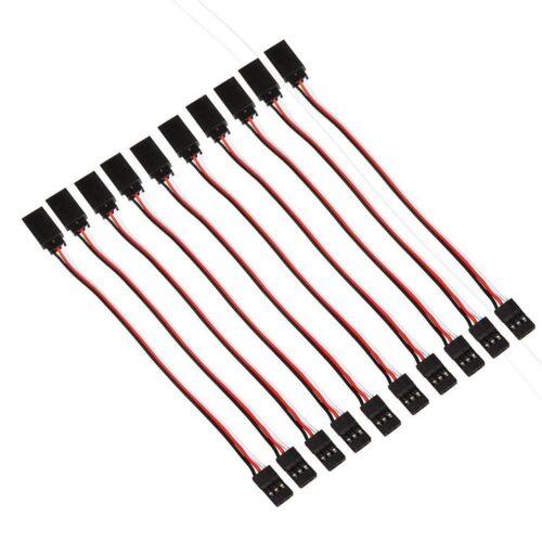 10pcs 150 mm Servo Récepteur Extension Lead Wire Cable Cord 150 mm pour RC avion