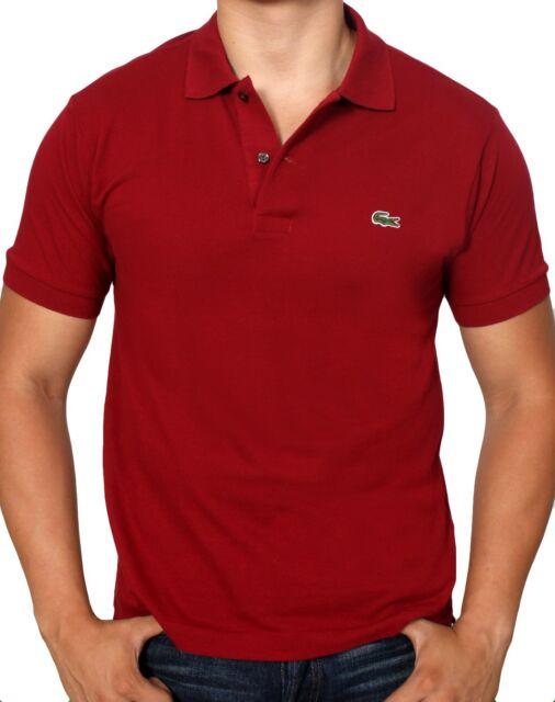 f29f4566d Lacoste Men's Short Sleeve Classic Pique Polo L1212 51 Burgundy 476 ...
