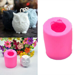 3D-Owl-Silicone-Candle-Wax-Mould-Soap-Molds-Sugarcraft-Hand-DIY-Craft-Tools
