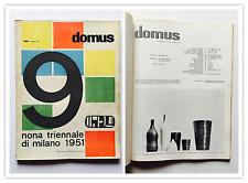 Domus n.259 1951 dir. Gio Ponti Architettura IX Triennale di Milano Magistretti