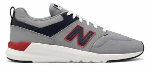 New-Balance-Men-039-s-009-Shoes-Grey-with-Navy-amp-Red