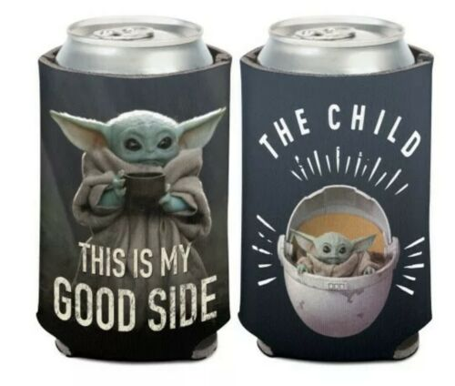 "Star Wars The Child Baby YODA /""this Is My Good Side/"" Beer Cooler Beach Coozie"