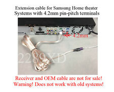 12' speaker extension cable/wire/cord made for Samsung Home Theater;4.2mm-pitch