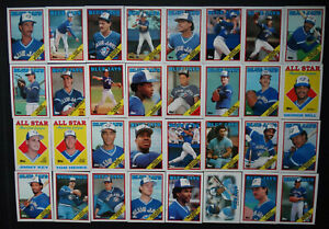 1988-Topps-Toronto-Blue-Jays-Team-Set-of-37-Baseball-Cards-With-Traded