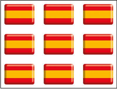 Resina 16x11 mm//ud. Artimagen Pegatina rect/ángulos Bandera con Logo Guardia Civil 9 uds