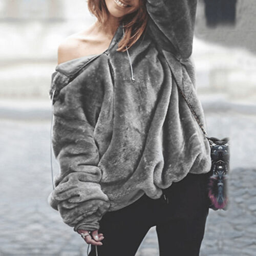 Damen Kapuzenpullover Hoodies Sweatshirt Langarm Wärme Pulli Sweatjacke Mantel
