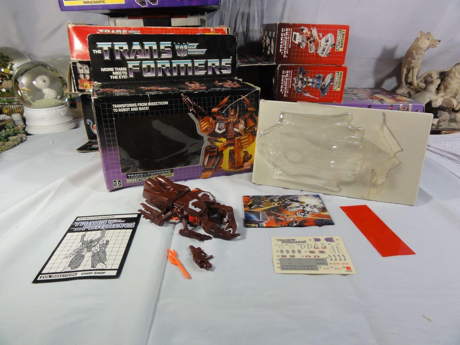 Transformers Generation One Decepticon Insecticon Chop Chop Unapplied Mib Box